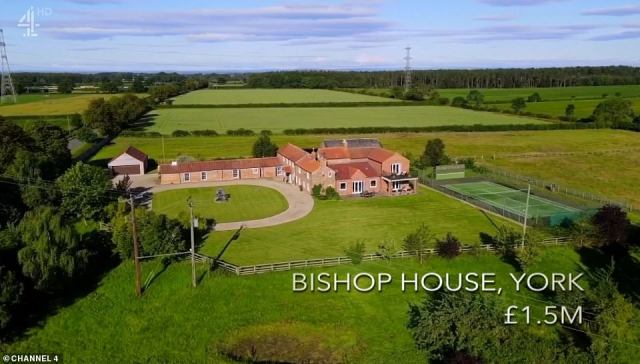 The mother-of-two said she fell in love with a country estate in York on the market for £1.5 million, with a huge tennis court and wrap around stables