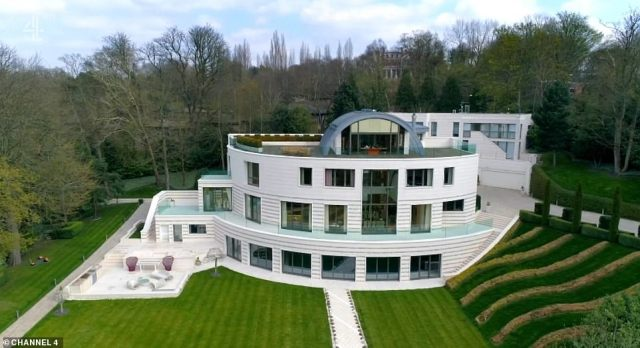 Highgate's 10 bedroom Heathfield House featured in the programme, which is currently on the market for a whopping £40 million