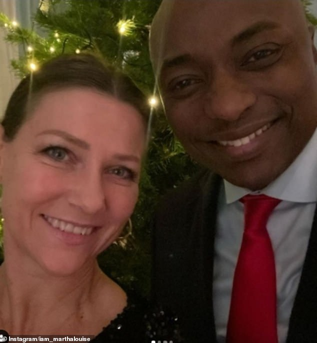 Last week, Princess Martha Louise revealed further details about how her family spent their first Christmas on the anniversary of Ari's suicide (pictured, with her boyfriend Shaman Durek)