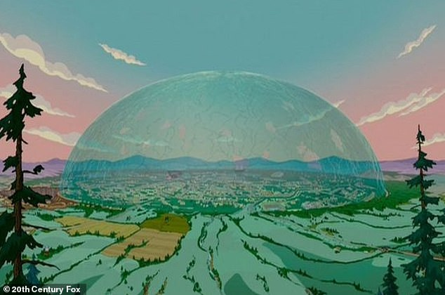 The latest prophecy fans have noticed is the plot in The Simpsons Movie, in which a huge glass dome is lowered over the famous family's home town of Springfield