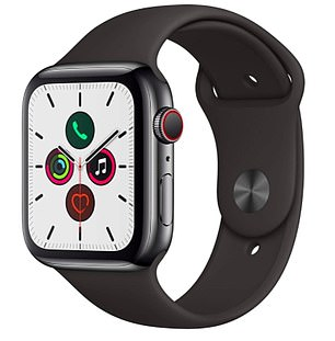 The Apple Watch Series 5 in space black with44mm display is now reduced to £471.99