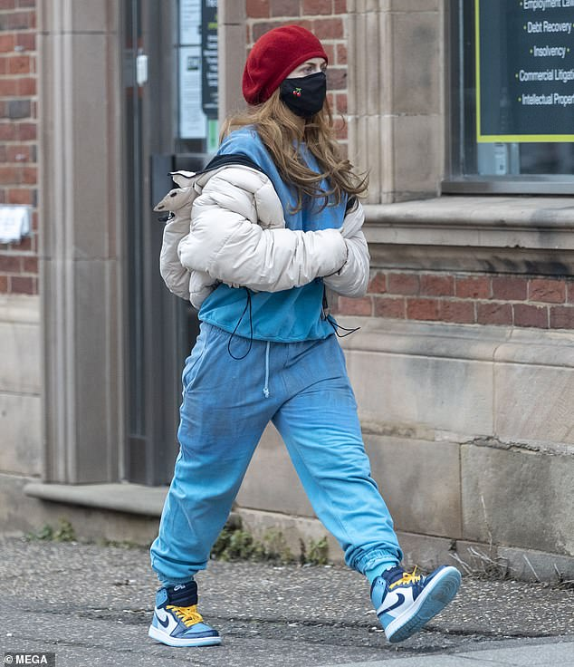 Stepping out:Maisie Smith took some time for herself as she stepped out for a stroll in Essex on Tuesday in a low-key ensemble
