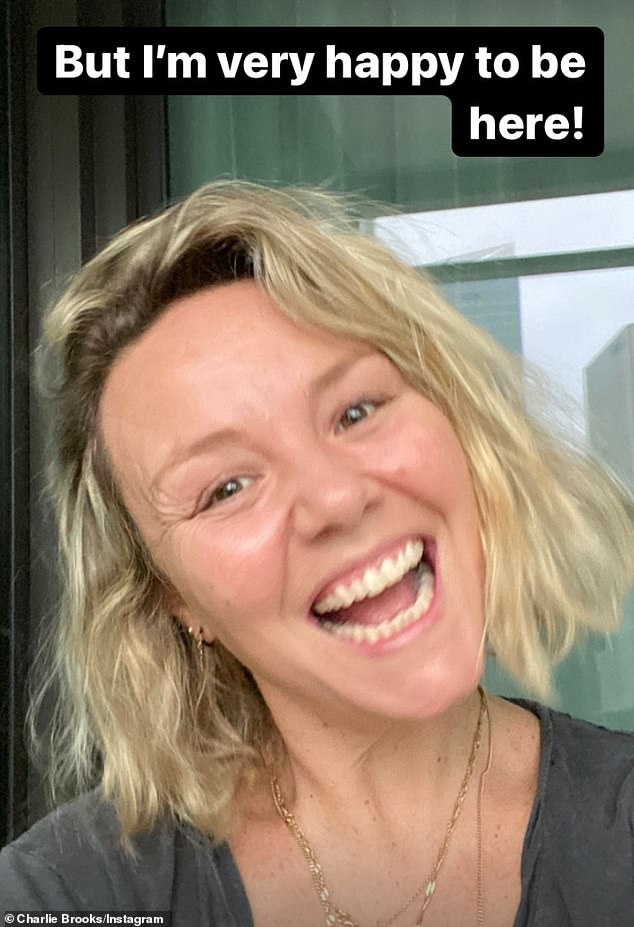 'Work exemption': Former EastEnders star Charlie Brooks has revealed that she is quarantining in Sydney, Australia, for two weeks due to a 'work exemption'