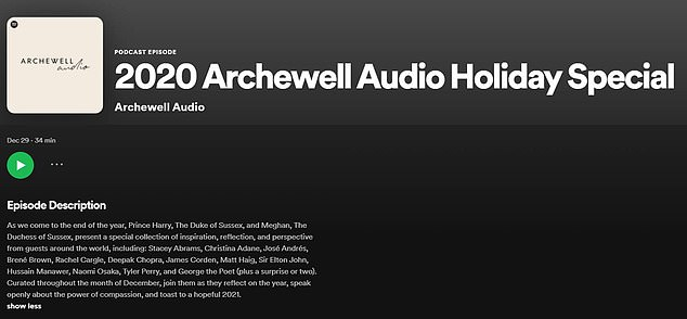 The couple's newly-formed Archewell Audio project promises to produce programming that 'uplifts and entertains audiences'