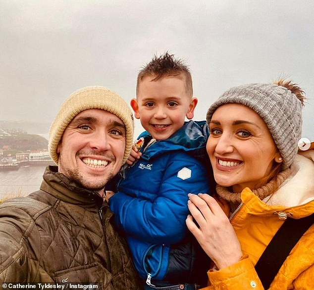 When the time feels right: Back in January, former Strictly Come Dancing contestant Catherine had stated that she was keen to have another child with Tom when 'the time feels right'