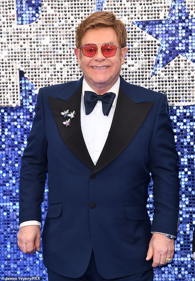 High praise:Sir Elton John has credited Zoom for preserving his sobriety by allowing him to stay connected with the Alcoholics Anonymous fellowship during lockdown