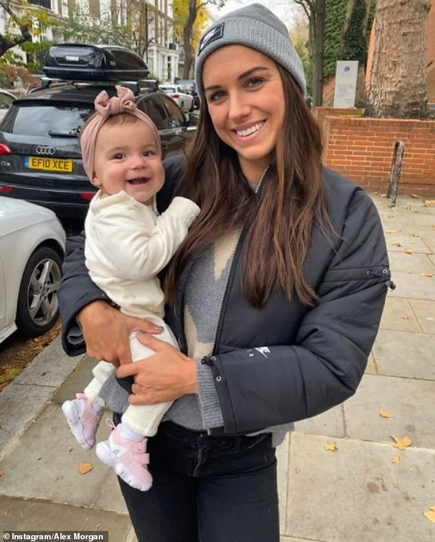 Alex gushed that she is 'absolutely loving' motherhood, and has 'never been so excited to come home from training or from work every single day and just hang out with her'