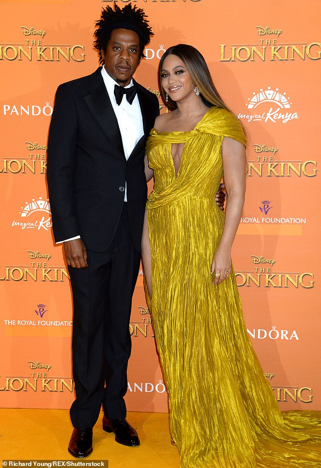 Mom and Dad:The former Destiny's Child front woman has three children with her husband Jay-Z: Blue Ivy, eight, and twins Rumi and Sir, three; seen in 2019