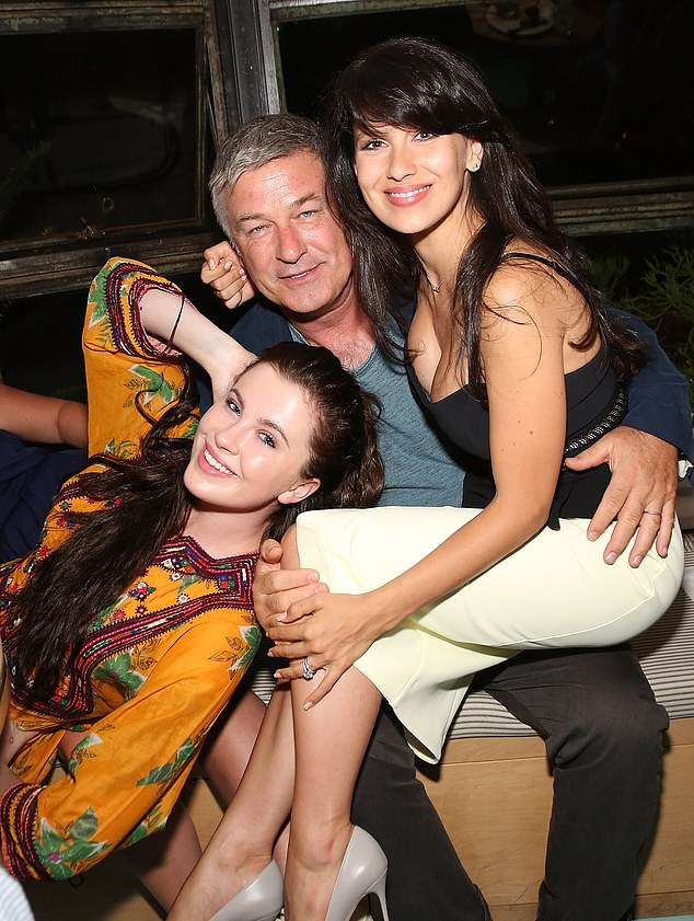 'I think it is her business': Ireland distanced herself from her stepmother Hilaria Baldwin's heritage controversy on December 29 while reiterating her love for her; seen with Alec and Hilaria in 2015