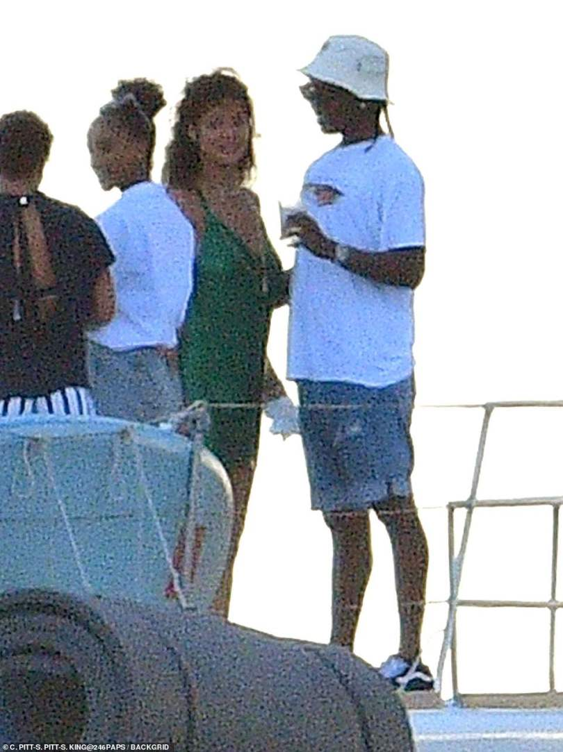 Sweet: The two certainly seemed to be enjoying their time in Rihanna's native Barbados together