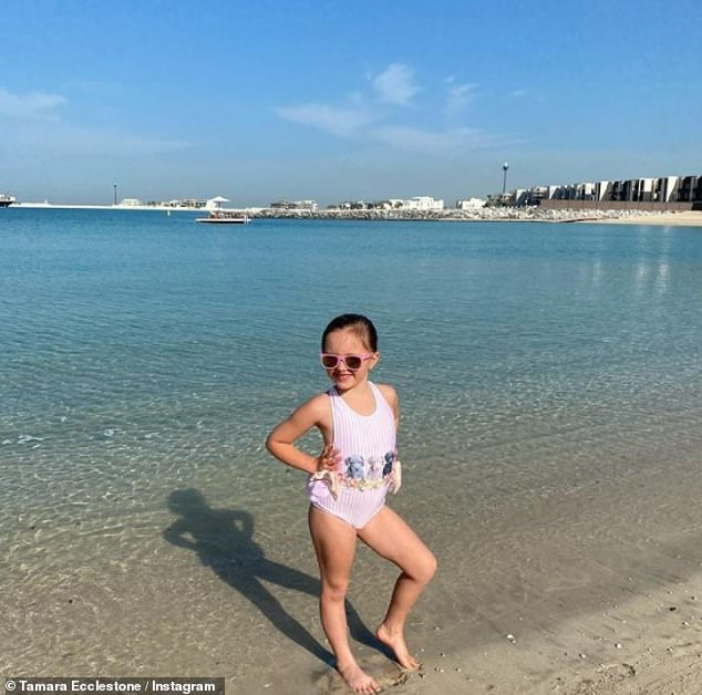 Holiday:The family has kept their location a mystery but they jetted off on their sun-drenched festive getaway earlier this week