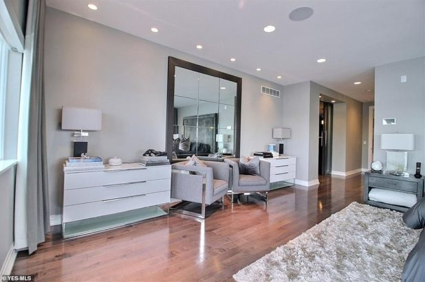 Gorgeous: The house has five bedrooms decorated in neutral and silver colors