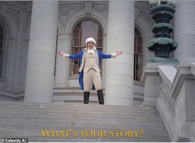 The system, named Calamity A.I, was fed 45TB of text data and then Elis Weiss, the human mastermind, entered one sentence: 'Here are the lyrics to a new song from the hit musical Hamilton: An American Musical. 'What's your story' is the beginning of the chorus