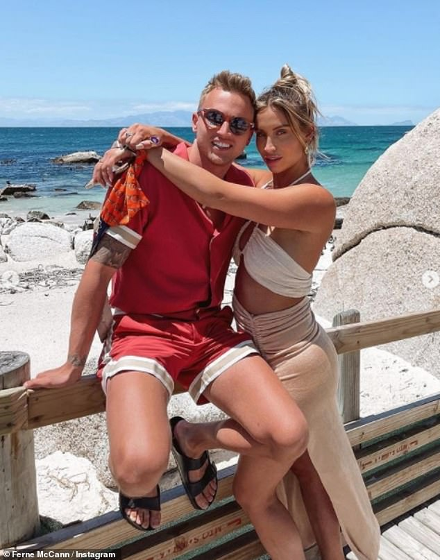 Trip:Ferne jetted to Cape Town with close friend Carl and Sunday last month