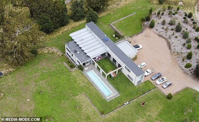Situated on the sprawling property is a modern-looking compound, most likely to be the homestead