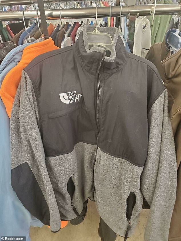 At least you'll be warm! A shopper in search of a budget jacket from The North Face spotted an item with a very similar logo