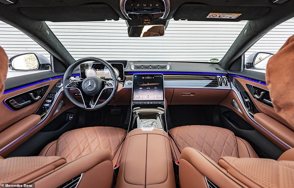 Classy: The leather interiors