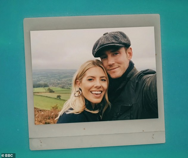 Loved-up: Mollie and Stuart were first linked in March 2018, but briefly split five months later in August 2018, before reuniting again in February 2019
