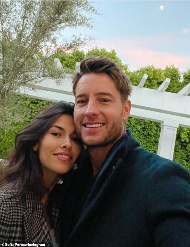 Loving life: The 31-year-old soap star shared a photo of the pair as she alluded to them living together as she said, 'Happy New Year from our quarantine den to yours'