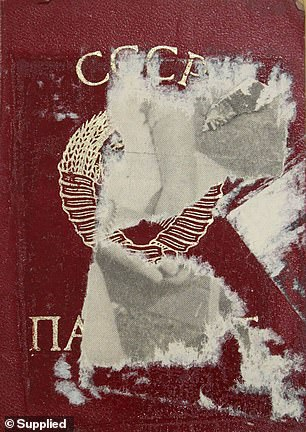 Gasinskaya's file states her letters back to her family from Australia were confiscated by the KGB. Her passport is pictured