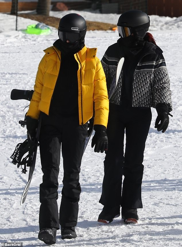 Sisters: Kendall and Kylie take after their uber athletic father Caitlyn Jenner and learned to snowboard at a young age
