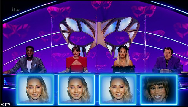 3/4: Judges Mo Gilligan, Davina McCall and Rita Ora correctly identified her. Fourth judge Jonathan Ross, however, was adamant it wasn't her as he had 'heard Mel singing up close' before