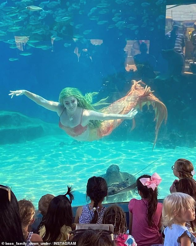 Madeleine Petty (pictured) aspired to become a princess at Disneyland's theme park, but she is now an underwater performing mermaid at The Aquarium of Western Australia (AQWA)