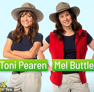 Stars: Former pop star Toni Pearen and comedian Mel Buttle (both pictured) also debuted
