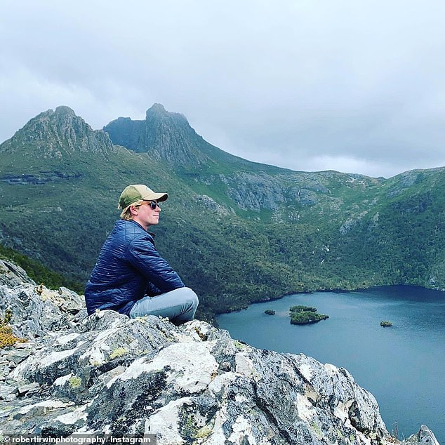 'Just got home from a wonderful trip to Tasmania to ring in the New Year - such a gorgeous spot! (Part 1 of our adventures),' Rob captioned his post on Sunday