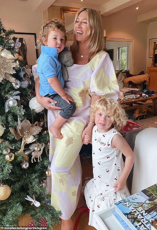 Family:Phoebe and Sam, 32, share custody of their two children, Billy, two, (right) and Poppy, three (left)
