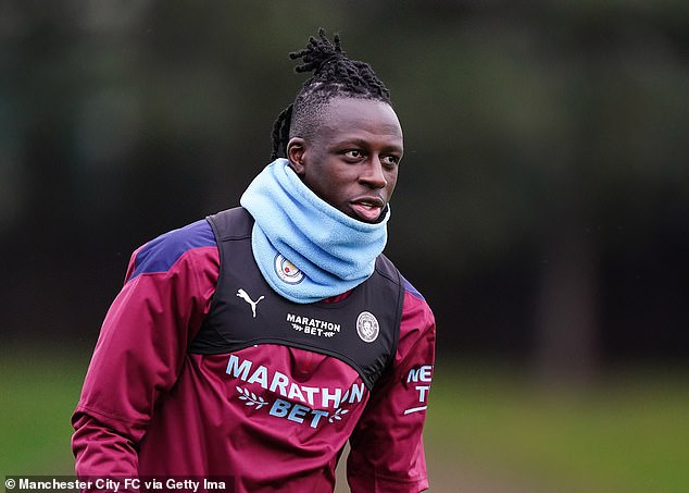 Manchester City are investigating Benjamin Mendy's (above) controversial New Year's party