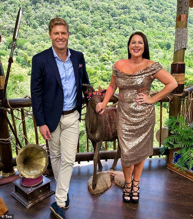 'He just outed himself!' Alex Mavroidakis, the executive producer behind I'm A Celebrity... Get Me Out Of Here! Australia, has lifted the lid on a celebrity sex confession that was too scandalous for screens. Pictured: I'm A Celebrity hosts Dr Chris Brown and Julia Morris