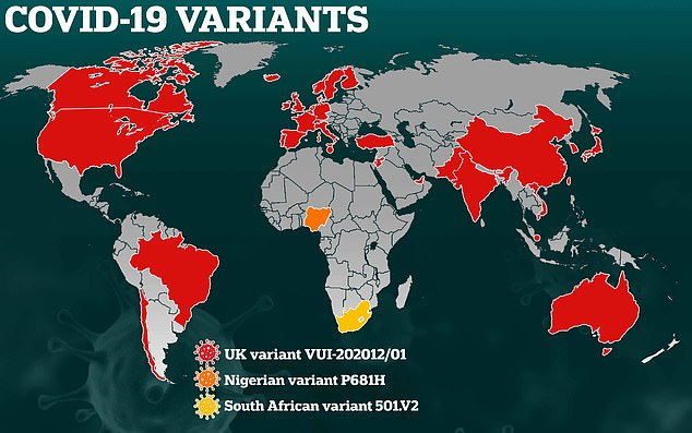 This map shows how the coronavirus variants have been tracked as they spread around the world