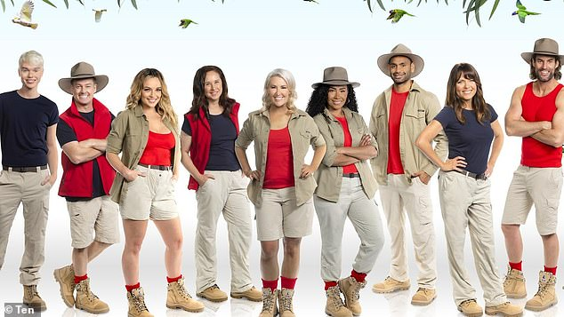 Ratings smash: The season premiere of Channel 10's I'm a Celebrity... Get Me Out of Here! drew more than one million viewers Sunday night. Pictured: the I'm a Celebrity 2021 cast