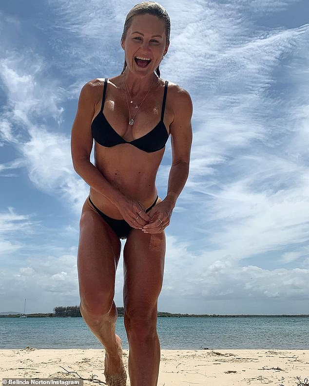 Belinda Norton, 43, from the Gold Coast, said it's important that you don't 'rush' your body after a period of relaxation over Christmas, but rather you 'prepare' it (Belinda pictured)