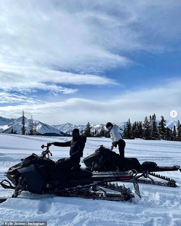 Sister time: As the reality stars enjoyed racing down a winding trail with spectacular views, the duo appeared inseparable on their fun-filled family vacation to Aspen in contrasting outfits