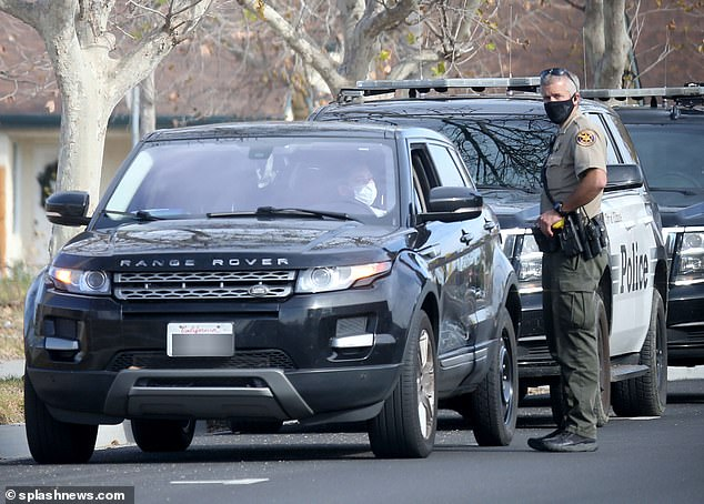 Nicole Ponsetto, 43, the mother of Miya Ponsetto, dubbed 'Soho Karen' was spotted being pulled over by Ventura County Sheriffs in the town of Fillmore, CA