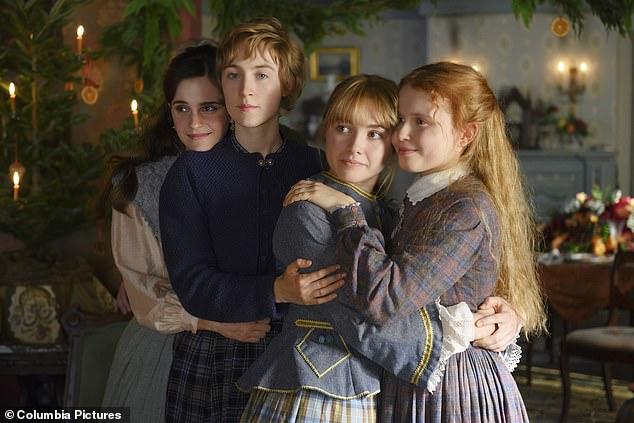 Four sisters: Florence, Emma Watson, Saoirse Ronan and Eliza Scanlen starred in the 2019 film Little Women