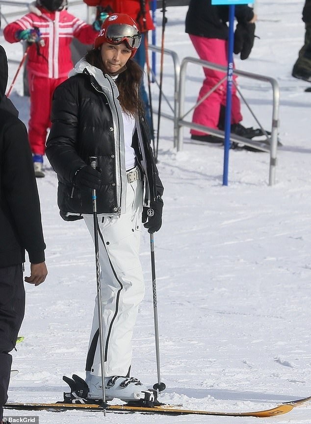Bella Hadid keeps it casual with a 'Whassup' shirt as she hits the ski slopes in Aspen