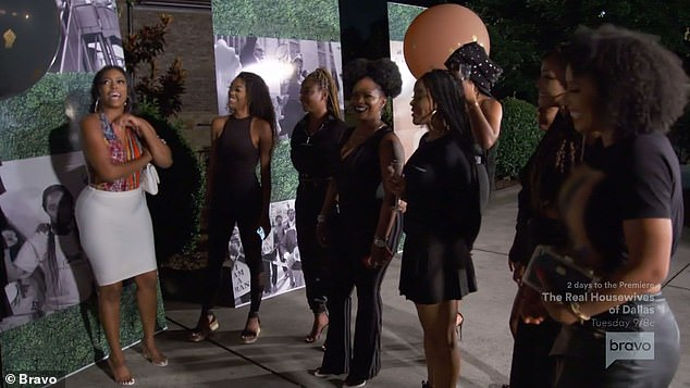 Getting emotional:'It means a lot to me, because what I do is for the people,' Porsha told her friends