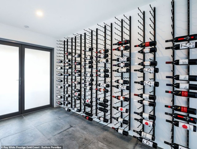 There is also a huge wine cellar at the property - which goes up for auction at the end of January