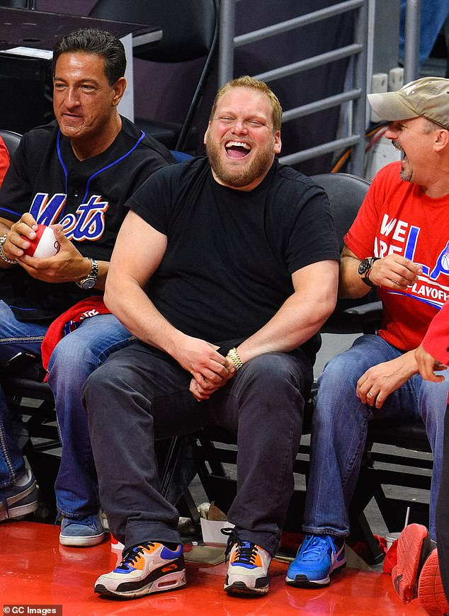 Beloved: Jonah's late brother Jordan Feldstein was snapped at a Clippers game in 2015