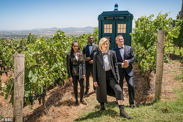 Milestone:Whittaker made history in July 2017 when she was announced as the first-ever female doctor after Peter Capaldi ended his run; still from Doctor Who