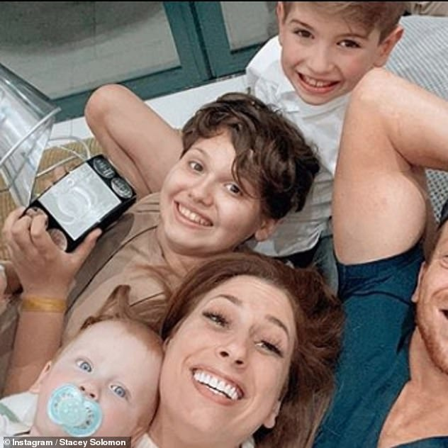 Blended family:The presenter shares Zachary, with Dean Cox and Leighton, with Aaron Barnham, while Joe raises son Harry, 13 (pictured this year), with ex Emma Sophocleous