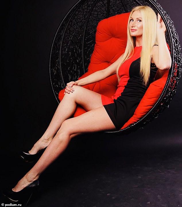 Ms Novitskaya posing for a social media post