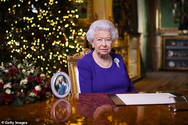 The Queen has recorded a special message to mark the 75th year of the BBC's Woman's Hour. Pictured, Her Majesty records her annual Christmas broadcast in Windsor Castle