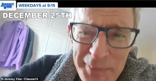 Jeremy Vine, 55, reveals he battled COVID-19 over the Christmas holiday
