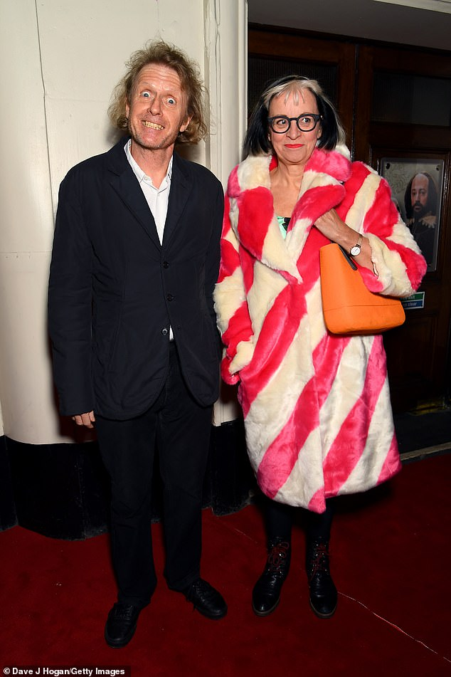 Grayson and Philippa Perry attend the Upstart Crow press night at Gielgud Theatre on February 17, 2020 in London
