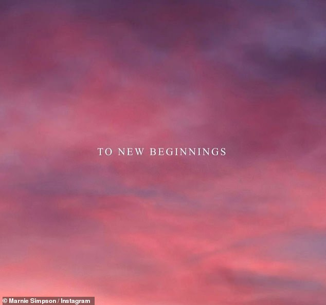 Puzzling upload: She talked about 'new beginnings' in a post, just one week after celebrating Christmas with Casey and their 15-month-old son, Rox