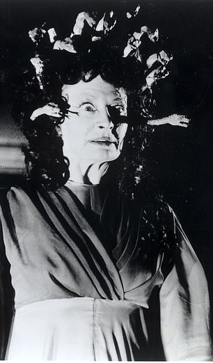 Barbara Shelley as the monster in The Gorgon